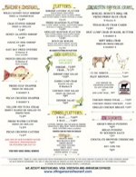 Stingaree Menu